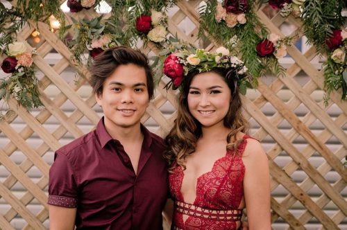 Shin Lim with his girlfriend, Casey Kathleen