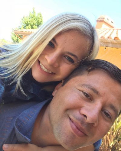 Cassie Hollister amd her fiance, Carlos