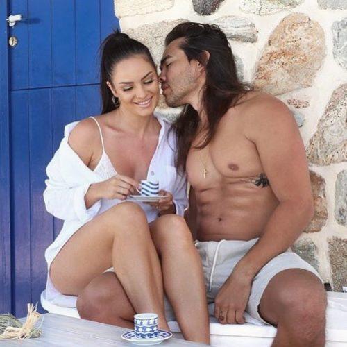 Chloe Morello and her husband