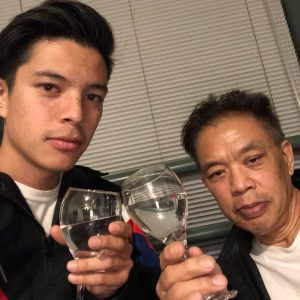 Christopher Chann and his father