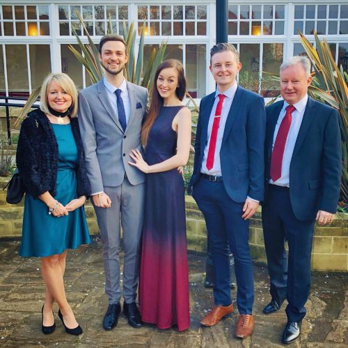 Clare Siobhan and her family