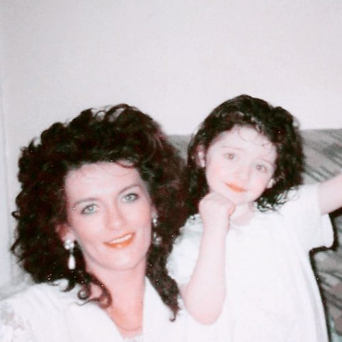 Little Melanie Murphy and her mother