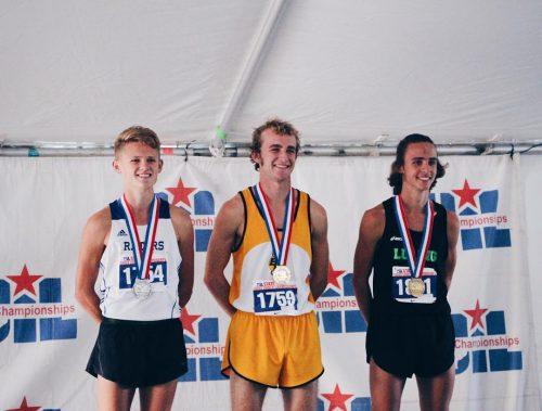 Ryan Trahan winning silver medal
