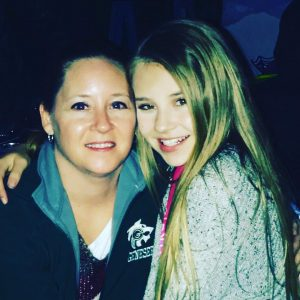 Tegan Marie and her mother