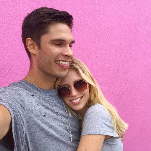 Adrian Gee and his girlfriend