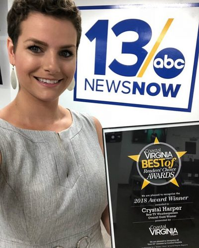 Crystal Harper with her Award