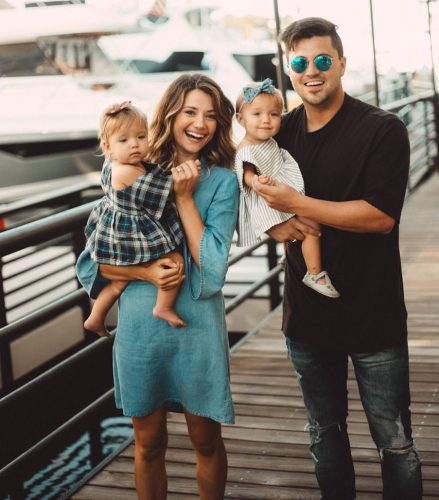 Kyler Fisher with his cute family