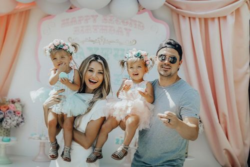 Madison Fisher and her cute little family