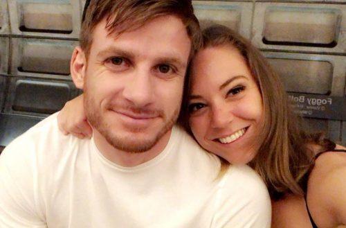 Natasha Bertrand and her boyfriend, Bryan