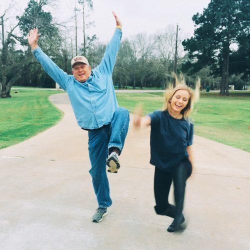 Jacy Jordan and her father