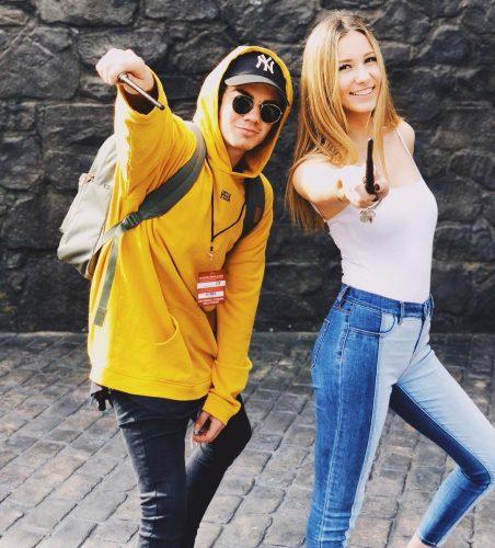 Jordan Beau and his girlfriend