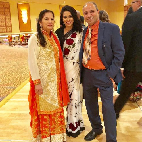 Simmi Singh and her parents