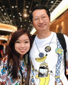 Karen with her Dad