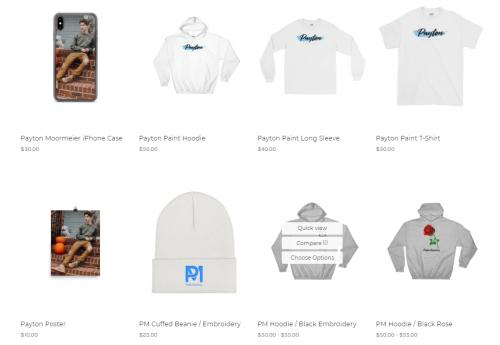 Payton's merchandise