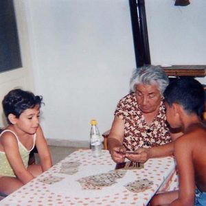 Baby Ani with her Baby Brother and Grandmother