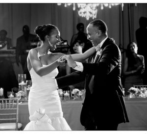 Blayne dancing with her father at her wedding