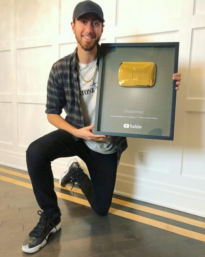 ChadWithaJ with his gold play button