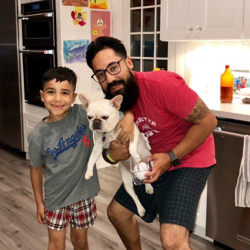 Dulce Candy's husband and son