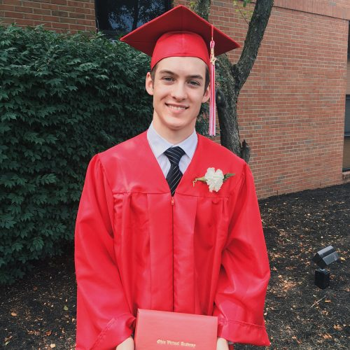 Elijah on his graduation day