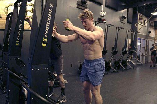 Hunter McIntyre in Gym