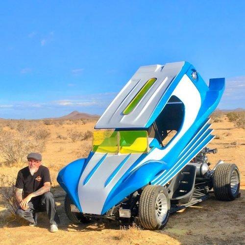Ian Roussel's customized car