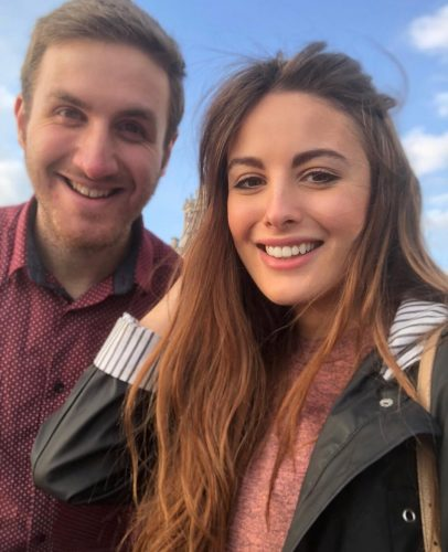 Matt with his girlfriend, Hatty