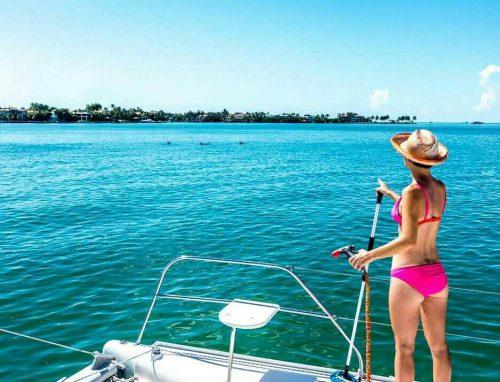 Nikki while sailing
