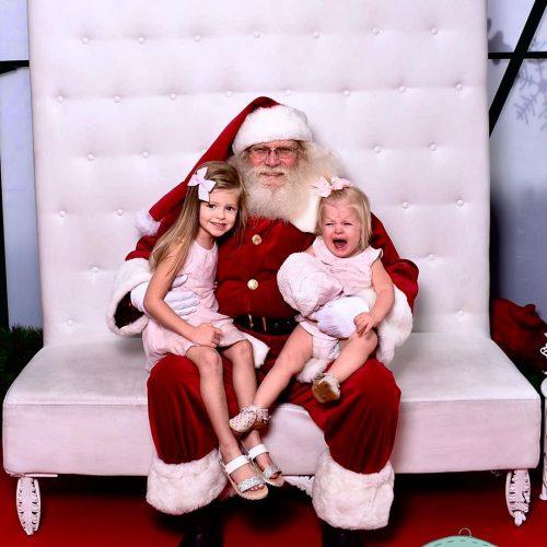 Scott Pasmore's daughters with Santa