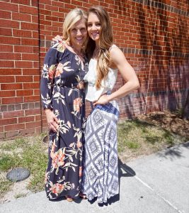 Taylor with her mother