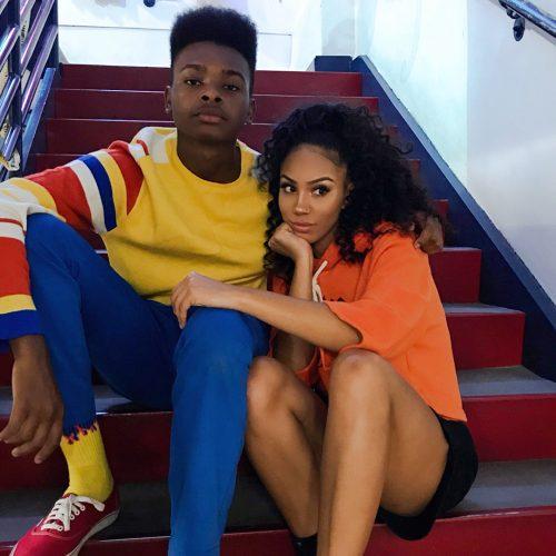 Alyssa Wallace with her boyfriend