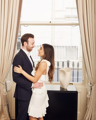 Amelia liana with her fiance