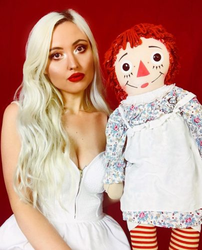 Brittyy44 with her evil doll