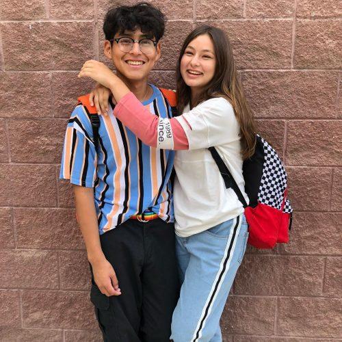 Desiree Machado with her boyfriend