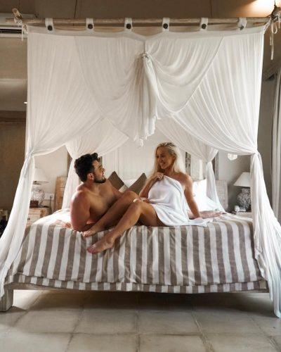 Elle Darby with her boyfriend, Connor