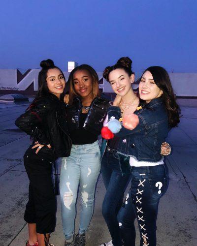 Jenna Raine with her friends