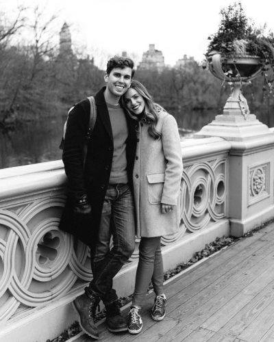 Julia Engel with her husband