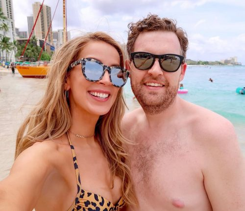 Leighannsays on vacation with her husband