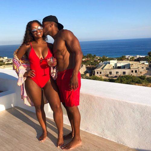 Shayla Mitchell with her boyfriend