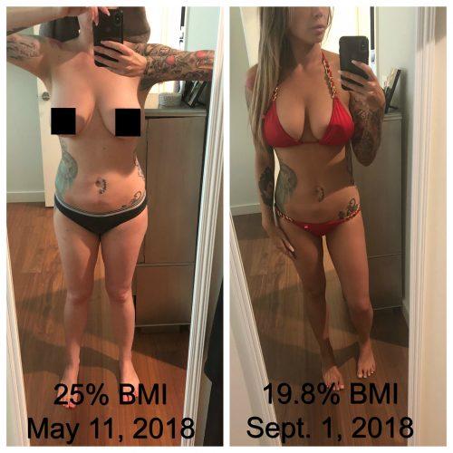 Stephanie Nicole's body transformation