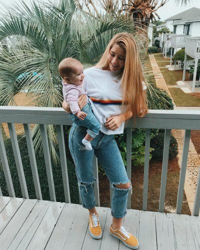 Yasmyn Switzer with her baby