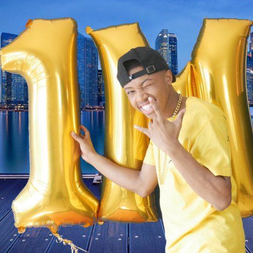 Dejon celebrating on crossing 1 million subscribers