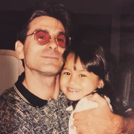 Baby Roxette Arisa with her father