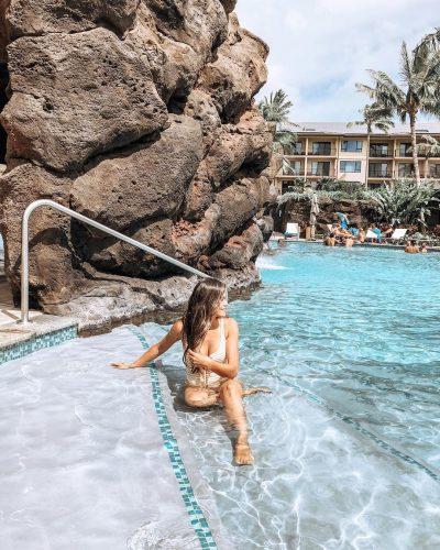 Brandi Milloy enojoying her vacation