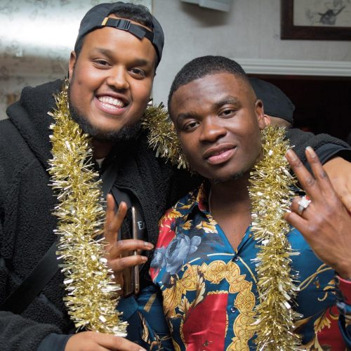 Chunkz with viral rapper, Big Shaq