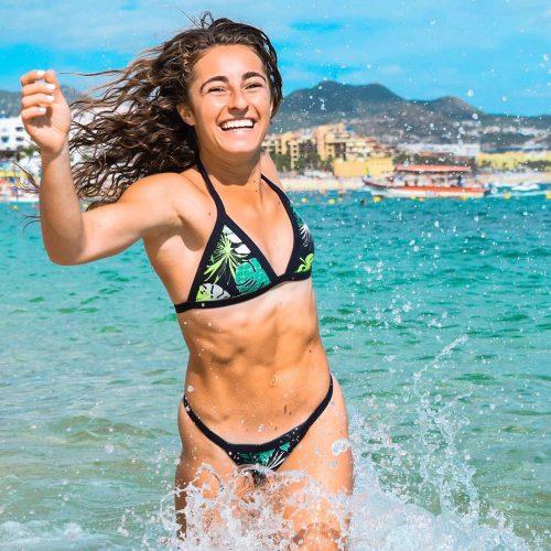 Demi Bagby in the beach