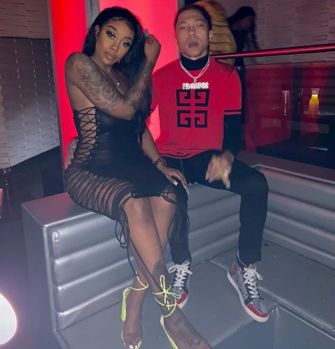 Kianna Johnson with her boyfriend YBN PrimeTime