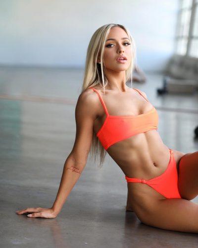 Abby Rao in a bikini