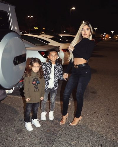 Brittany Murillo with her kids