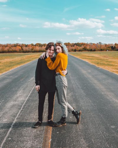 Erin Gilfoy with her boyfriend