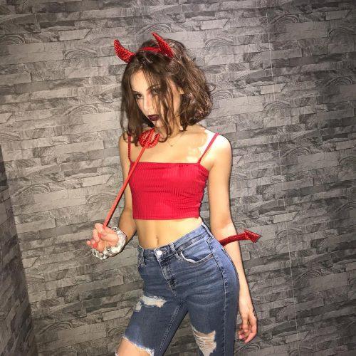 Georgia Twinn's Halloween outfit
